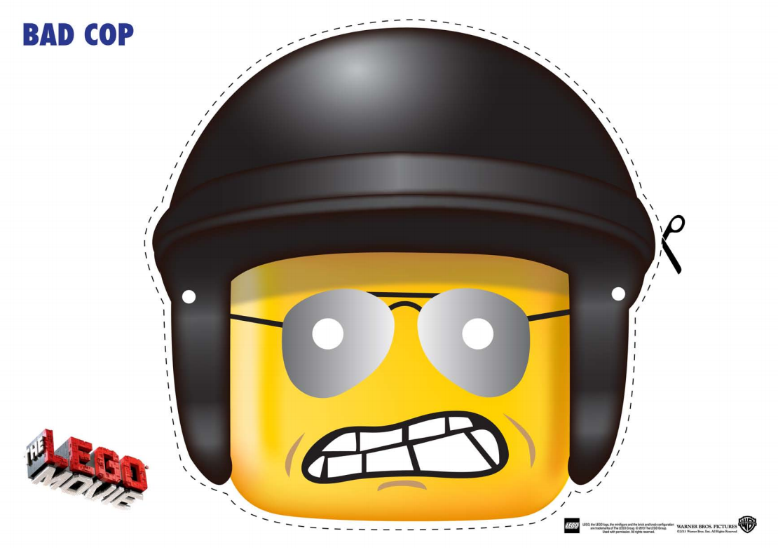 The Lego Movie Coloring Pages LEGO Face Mask – Free Printable Face Masks
