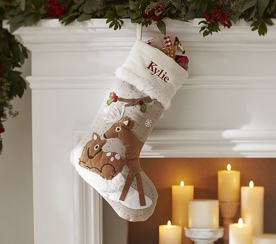 Woodland Stocking Collection In 2020 Baby Christmas