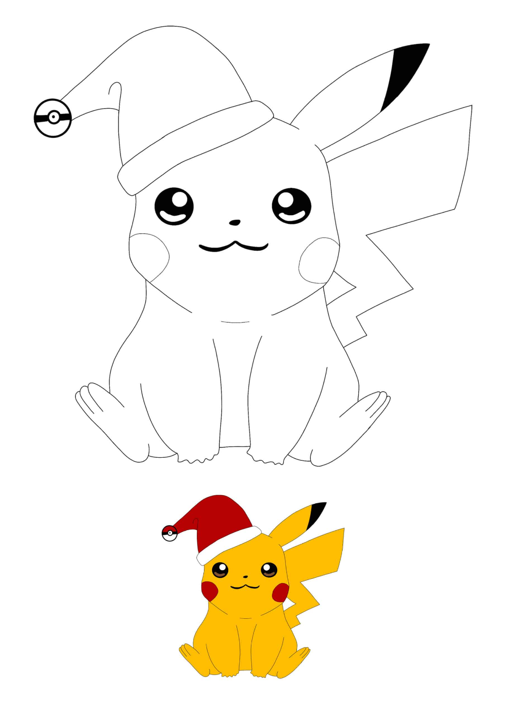 Christmas Pikachu Coloring Pages 2 Free Coloring Sheets 2020 Pikachu Coloring Page Coloring Pages Pokemon Coloring Pages