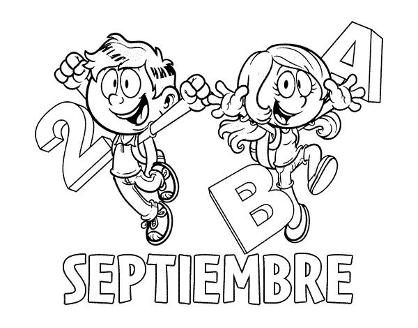 Imagenes Para Portada De Español Para Colorear: Dibujo Del Mes Septiembre De Para Colorear