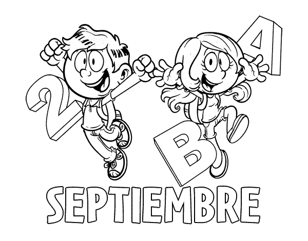 Dibujo De Septiembre Para Colorear Portadas De Septiembre Septiembre Preescolar Efemerides De Septiembre