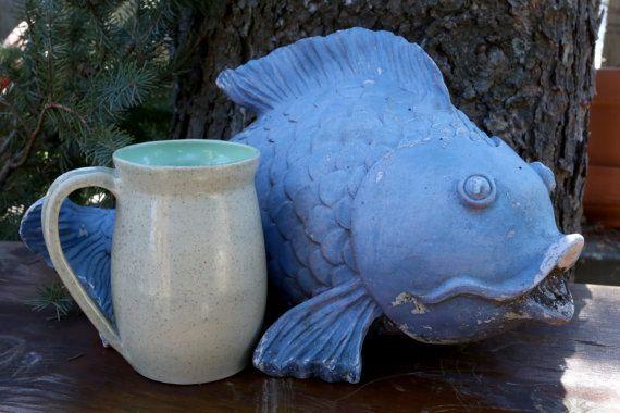 Beautiful Hearthstone Mug with Iced Mint by WildwoodCeramics
