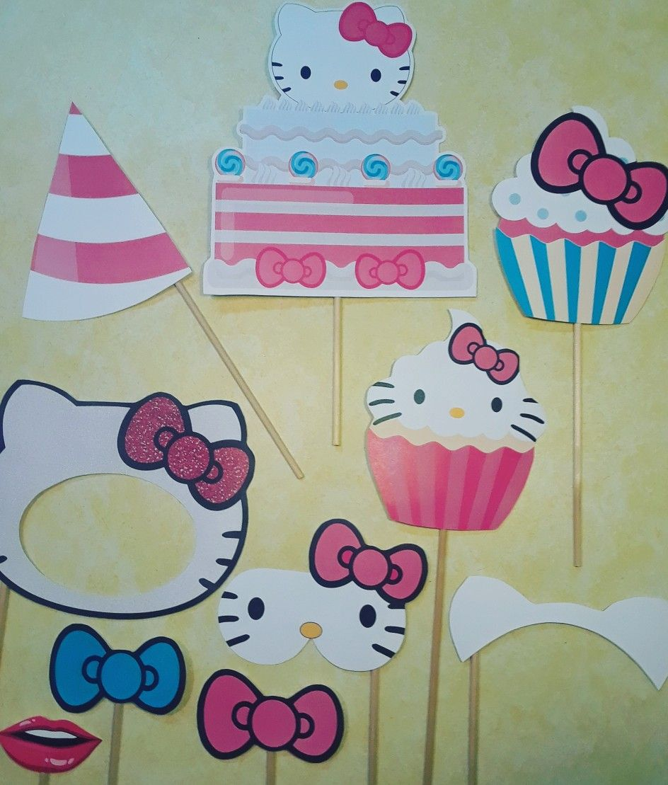 Hello kitty photo booth props for the perfect hello kitty birthday