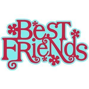 Silhouette Design Store 'best friends' Word Art