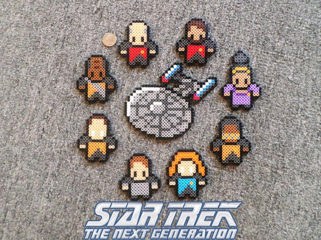 Star Trek: Next Gen characters - Perler bead designs | Star Trek DIY ...