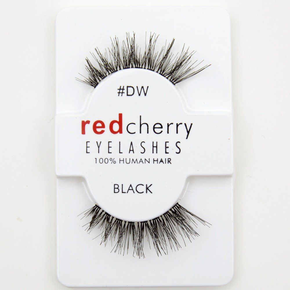12 Pairspack False Eyelashes Soft Red Cherry Eyelashes Human Hair