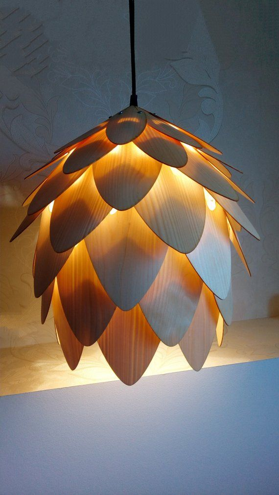 Wood Pendant Light/wood lampshade/pine cone pendant light/lamp for interior design,dining light,ceiling light,lighting #pendantlighting