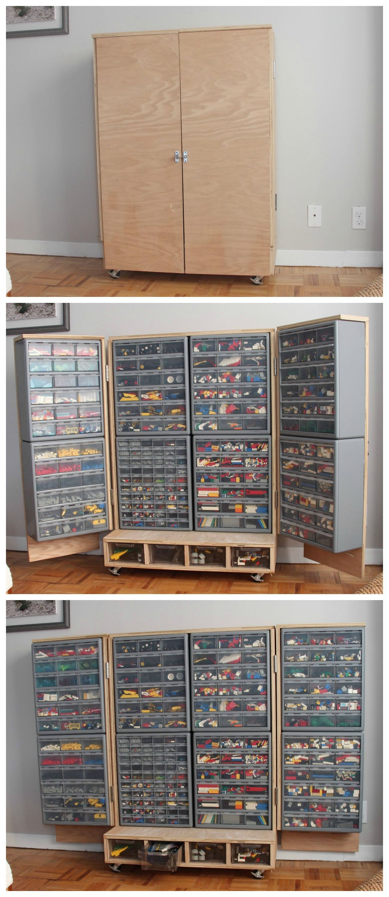 An amazing custom LEGO cupboard! Perfect for people who only have a ...