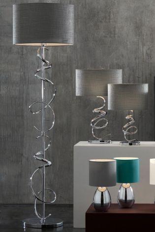 Ribbon Chrome Touch Floor Lamp