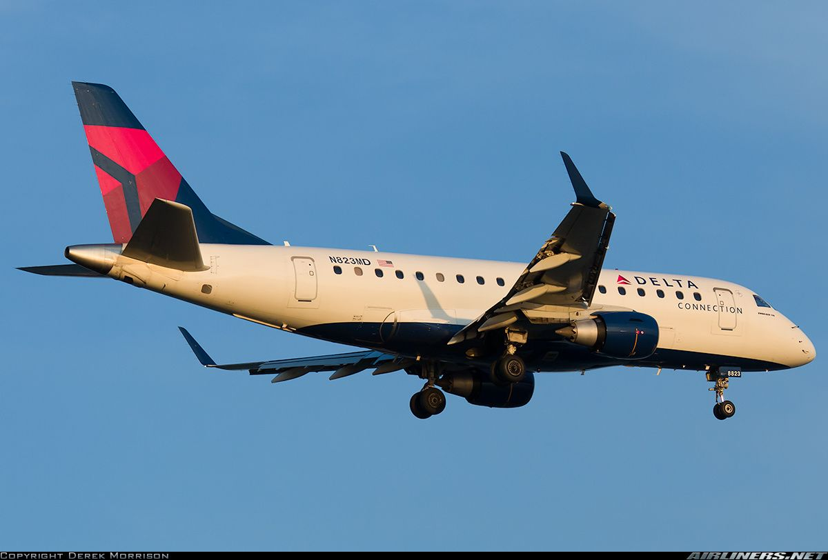N823MD Delta Connection Canadair Embraer ERJ-170SU | Aircraft OCD ...