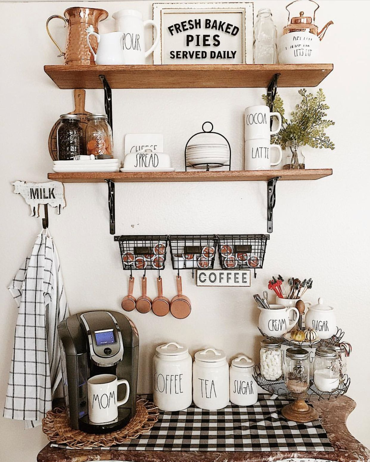 Farmhouse Coffee Station Keurig Coffee Station Fall Coffee Station Decor Diy Coffee Station Keurig Coffee Station Coffee Bar Home