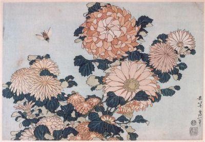 Flowers by Katsushika Hokusai