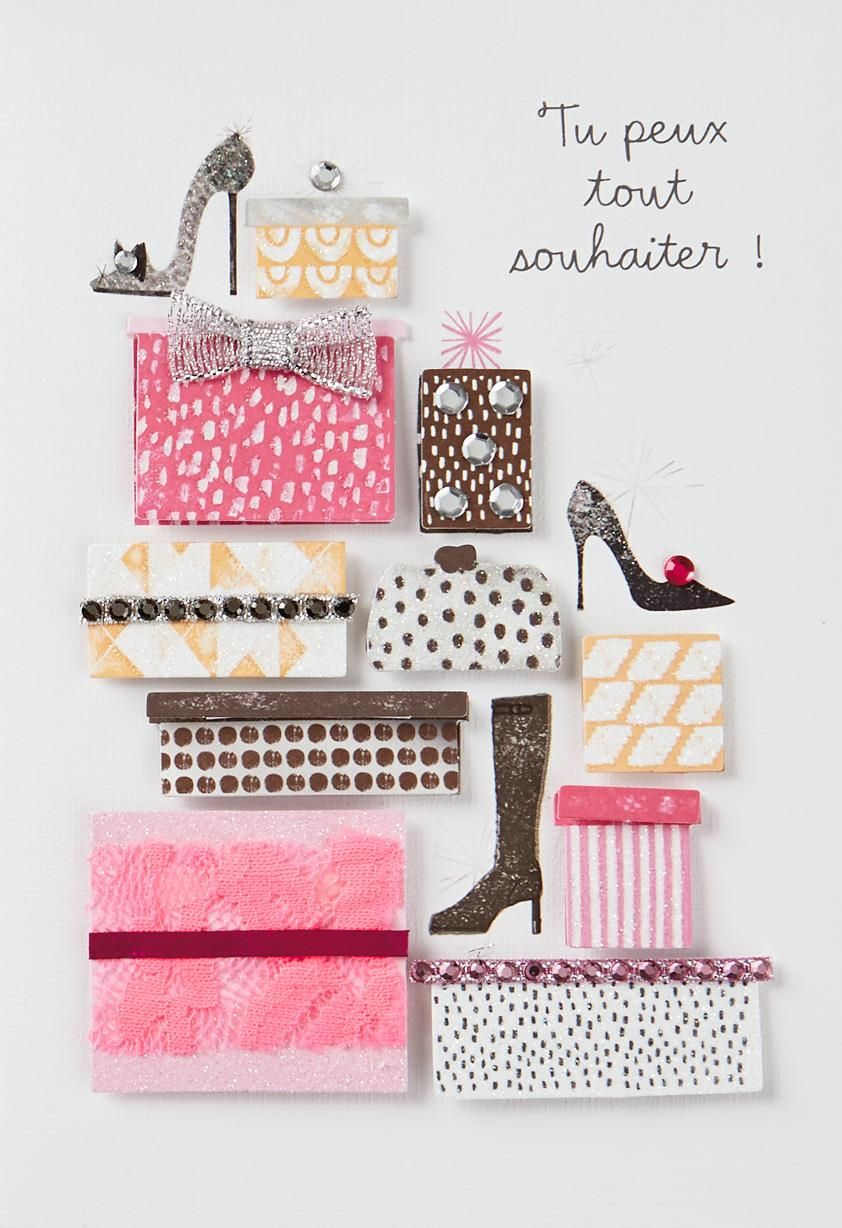 Wishes Are Like Shoes FrenchLanguage Birthday Card