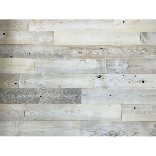 Peel And Stick Reclaimed Whitewash Wood 5 Inch Planks Wood Wall