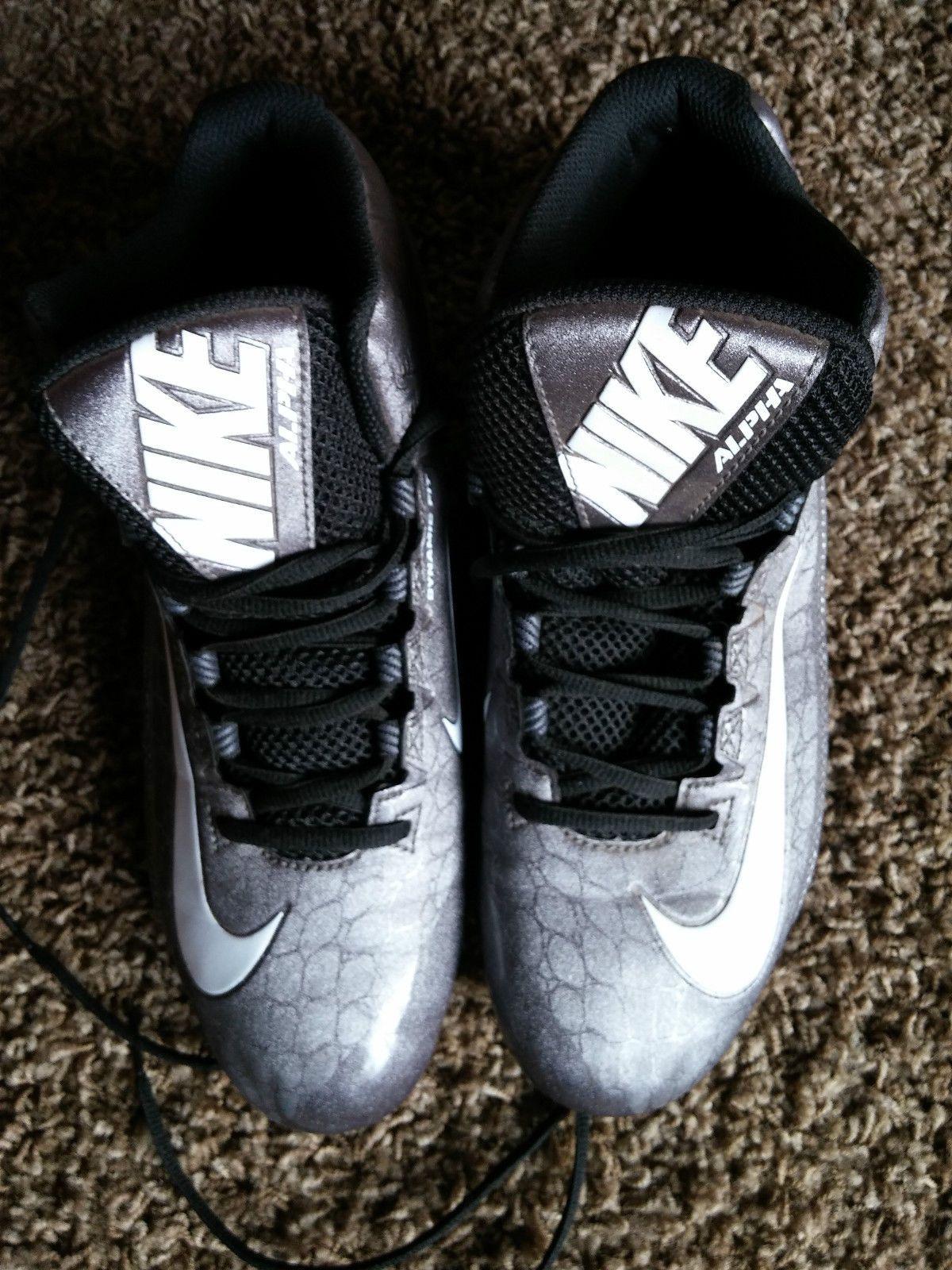 Hombres Nike Alpha 2 Strike 2 Alpha Td Gris Negro Football   Baseball Cleats Sz 977ab0