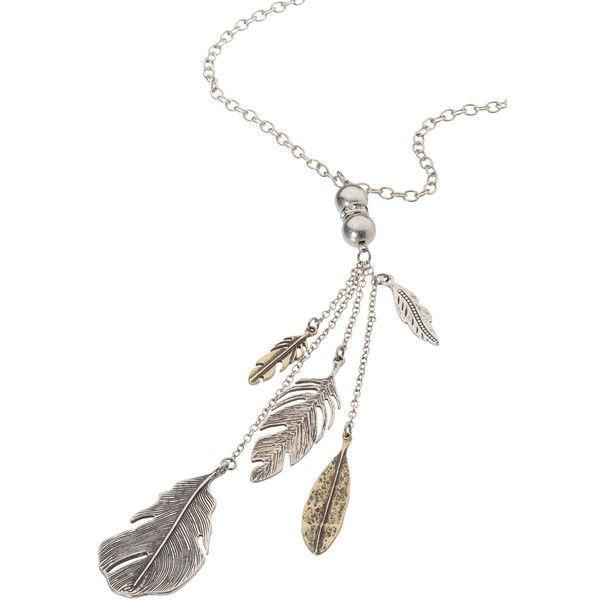 Maurices Rhinestone Feather Pendant Necklace k3lEazt9