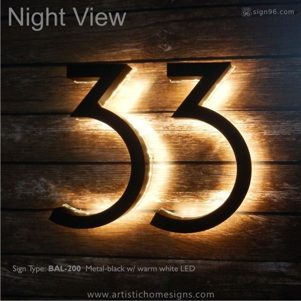 Image Result For Backlit Led House Numbers Led House Numbers
