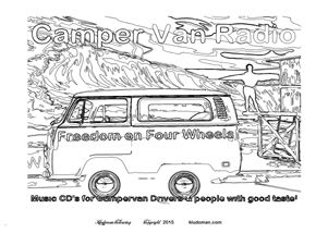 Aircooled The Campervan Colouring Book For Kids And Adults A New 32 Page A4 Collection Of Vintage Splitscreen Bay Window Cool Beach Surf