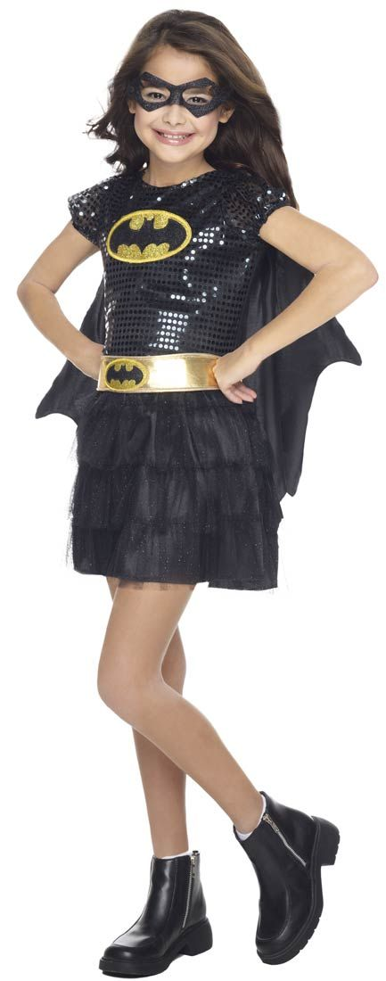 Girls Tutu Dress Batgirl Costume - Batman Costumes Heroes - cool halloween costume ideas for guys