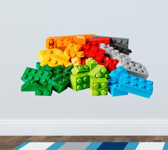 Lego  Wall decal for the nursery stickers great for by ArtogText