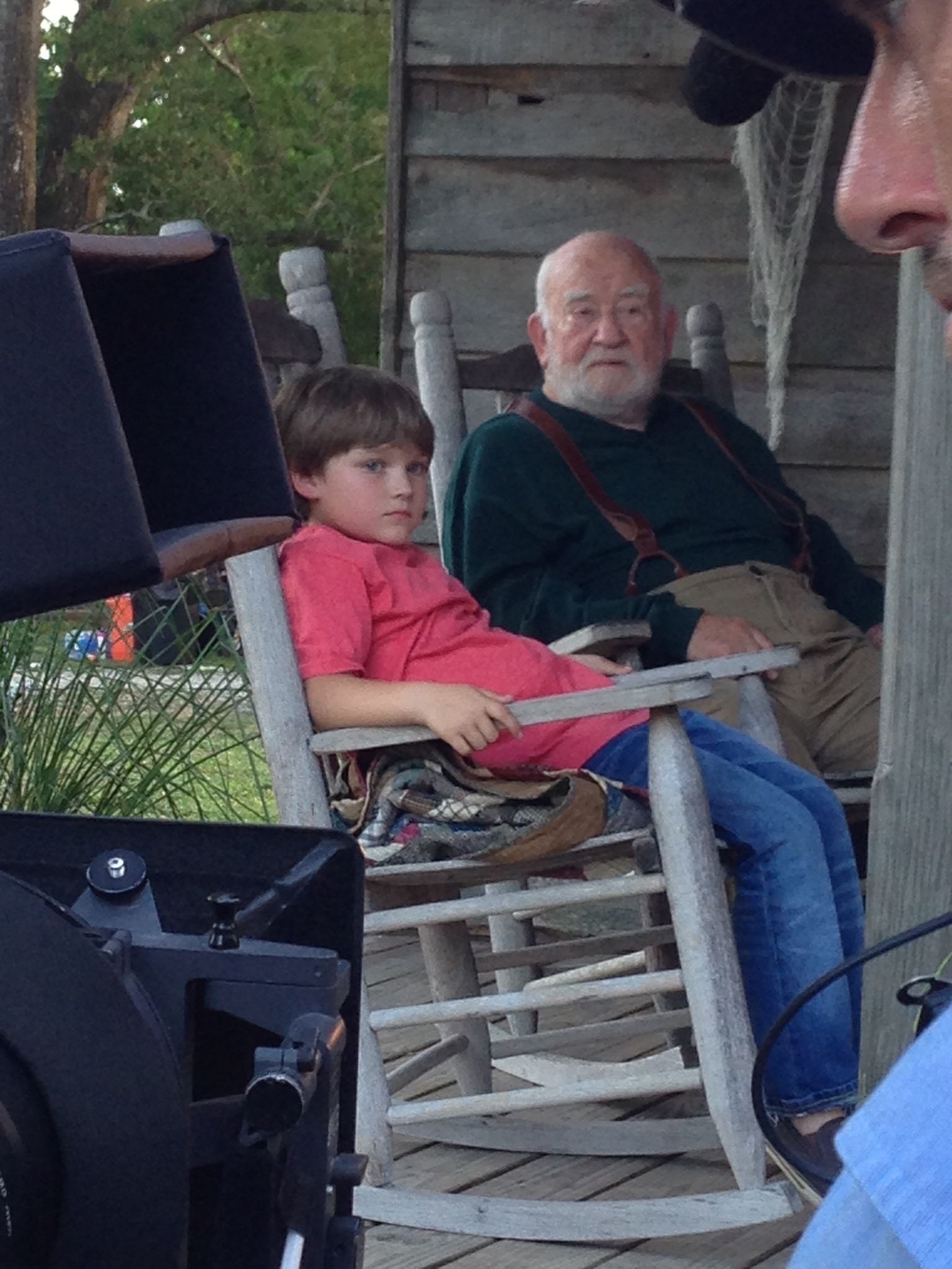 """Brody Rose with Ed Asner on the set of """"Christmas on the Bayou"""". http://www.mylifetime.com/movies/christmas-on-the-bayou    http://www.imdb.com/name/nm2656225/?ref_=nmmd_md_nm"""