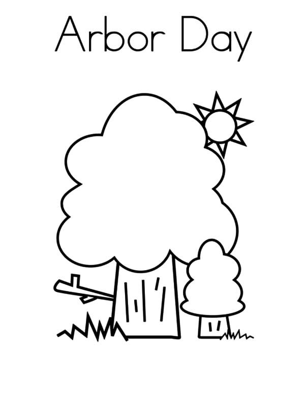 Arbor day tree coloring pages arbors and environment