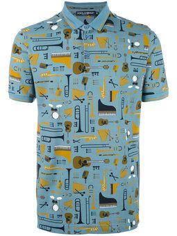 c9d070d681ed8 Camisa polo estampada D G