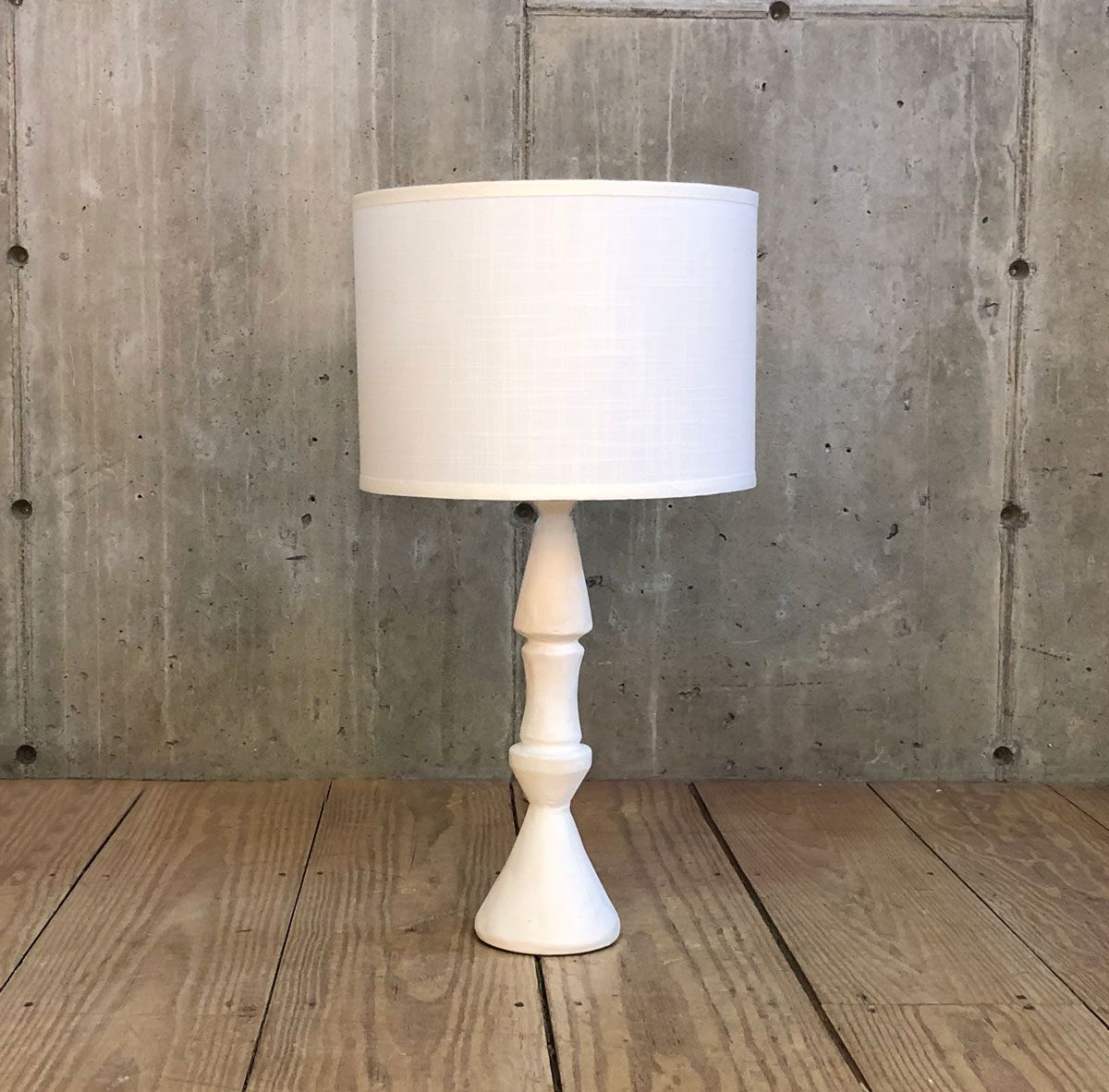 Gesso Painted Totem Table Lamp After Model By Giacometti Rt Facts Kent Ct Table Lamp Lamp Painting Lamps