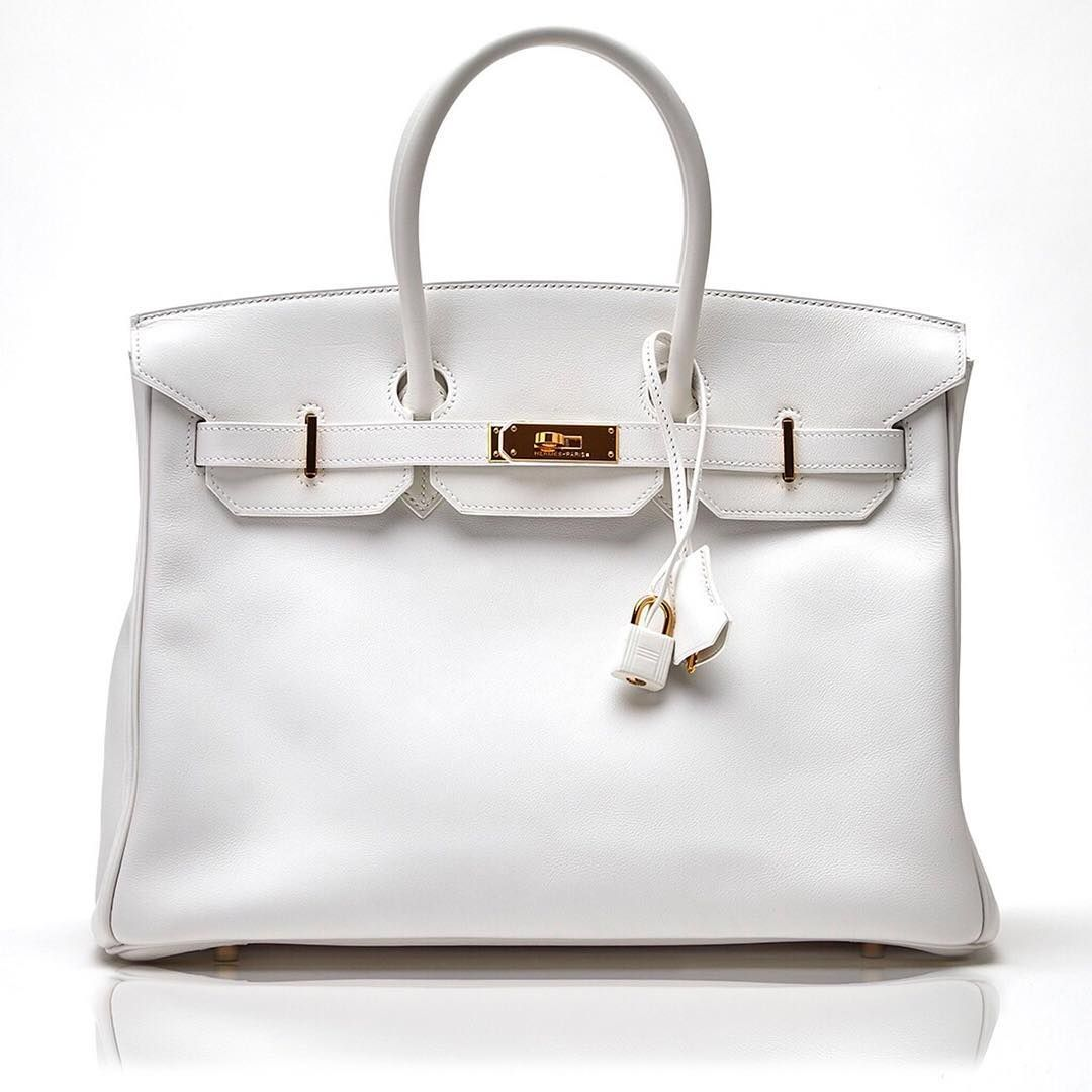 f9a73226dd7 Buy or Sell Your  Hermes  Birkin Bags Online with the  experts !  luxurybuyers.com White Swift  Birkinbag with  Gold Hardware