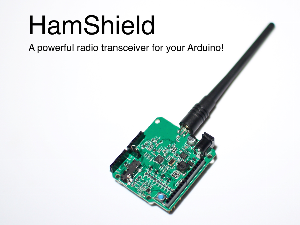 HamShield for Arduino (VHF/UHF transceiver) project video thumbnail ...