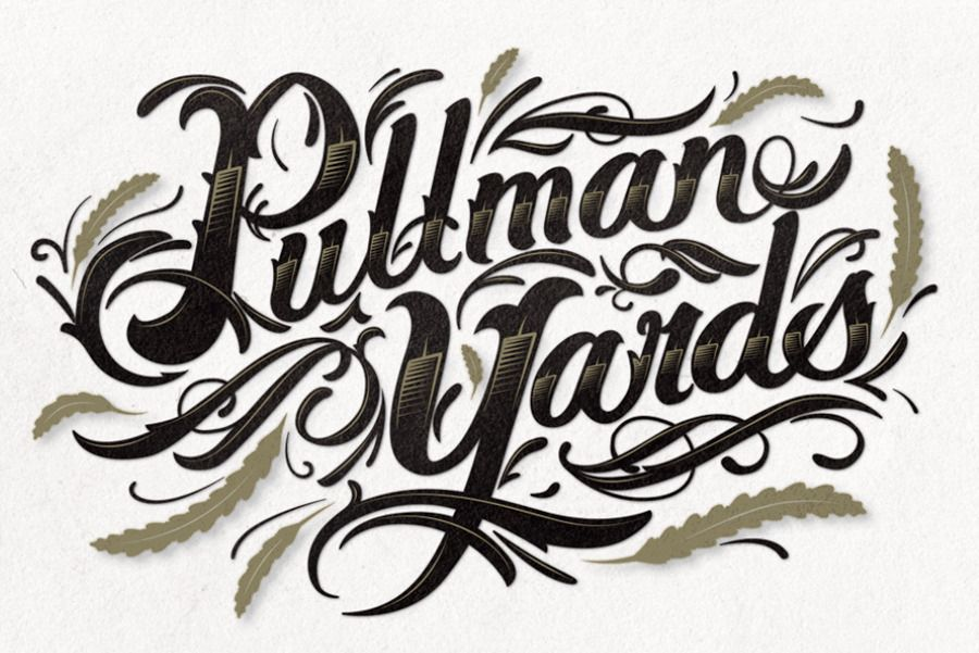 Workshop about calligraphy lettering flat pen edition