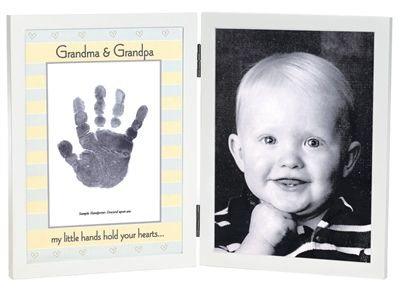 Discontinued by Manufacturer Sweet Somethings Handprint Frame 3108 The Grandparent Gift Co Big Sister//Baby Sister
