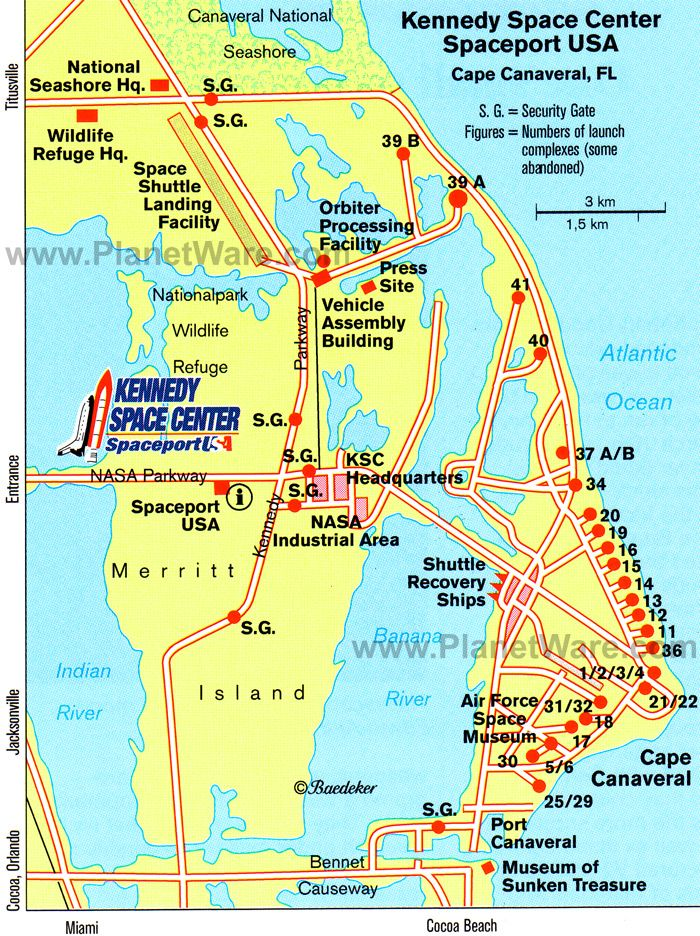 Kennedy Space Center Spaceport USA Map Tourist Attractions - Us map of attractions