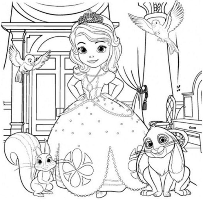 coloriage princesse sofia - Coloriage Princesse Sofia
