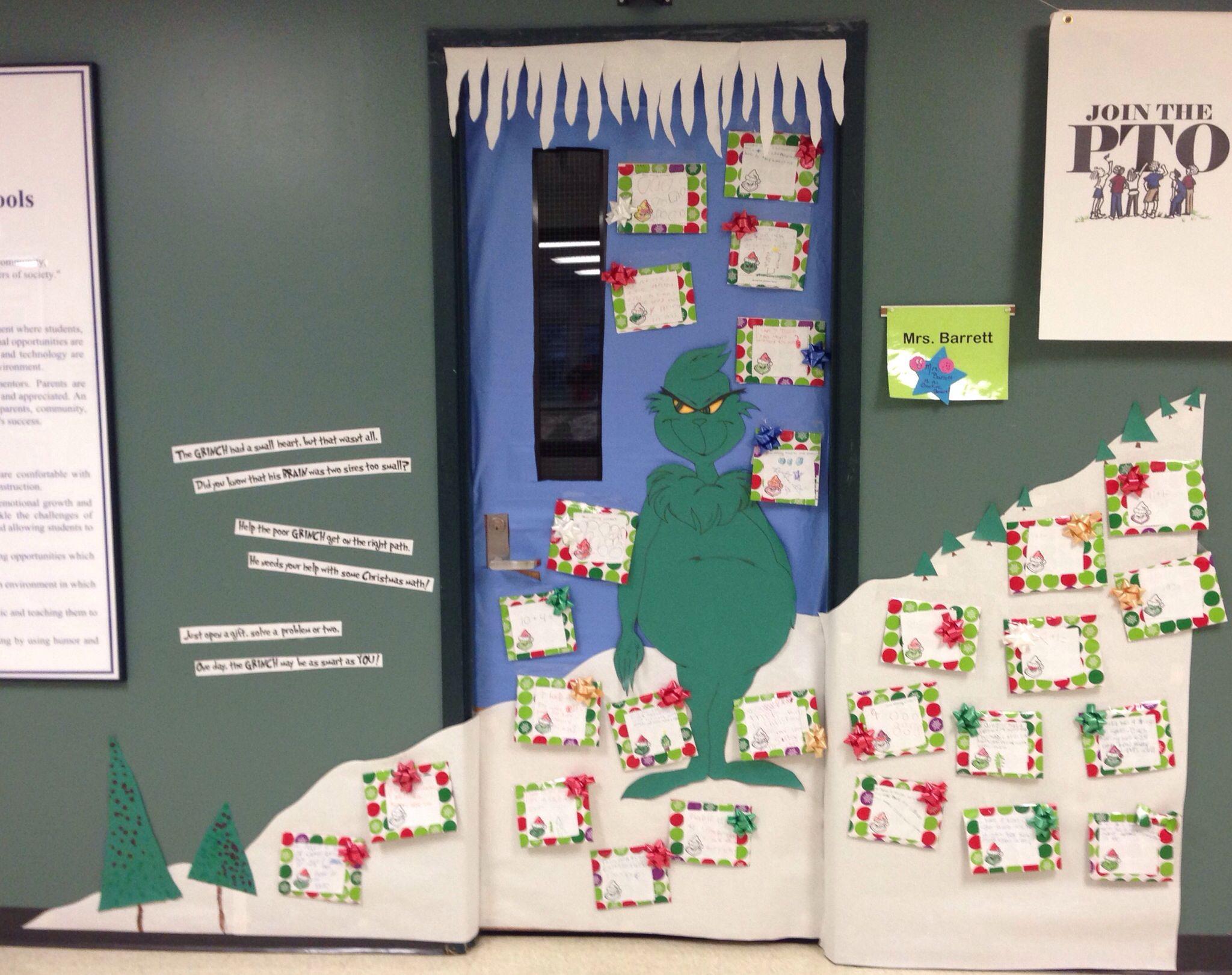 Holiday Grinch Classroom Door