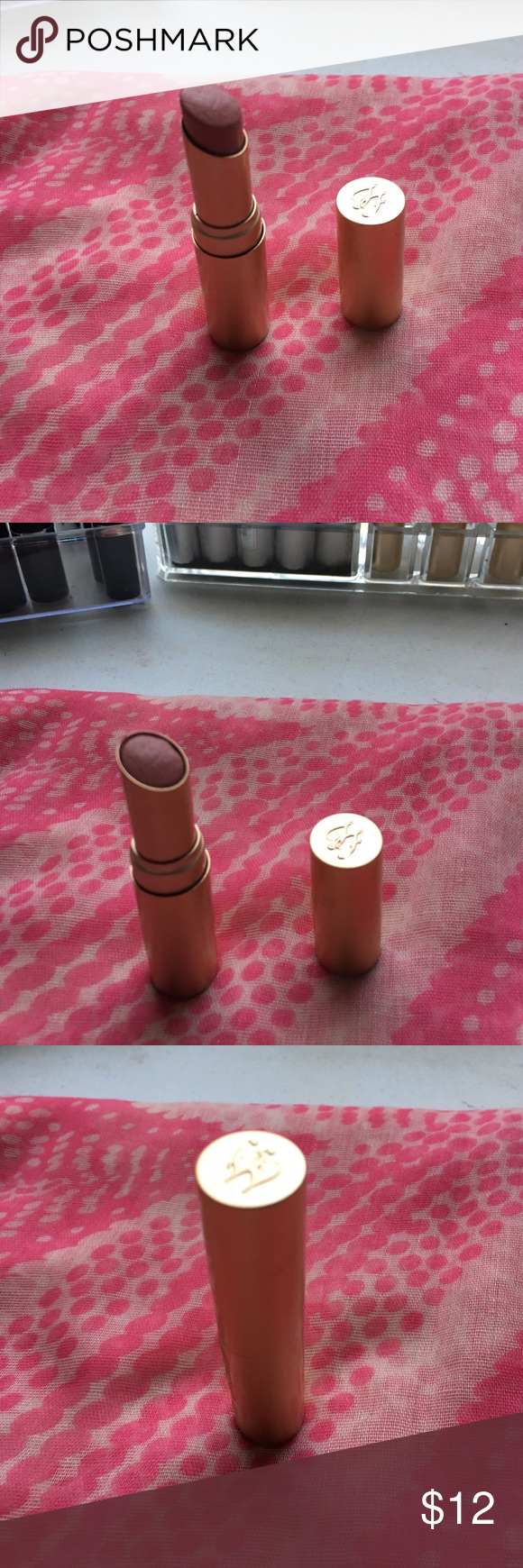 Too Faced le creme lipstick Gentle used an sanitized. I have doubles so selling one. Best moisturizing lipstick in color nude beach...pink nude Too Faced Makeup Lipstick
