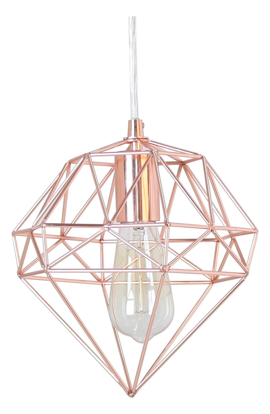 How Cool Is This Modern Rose Gold Hanging Lamp In The Shape