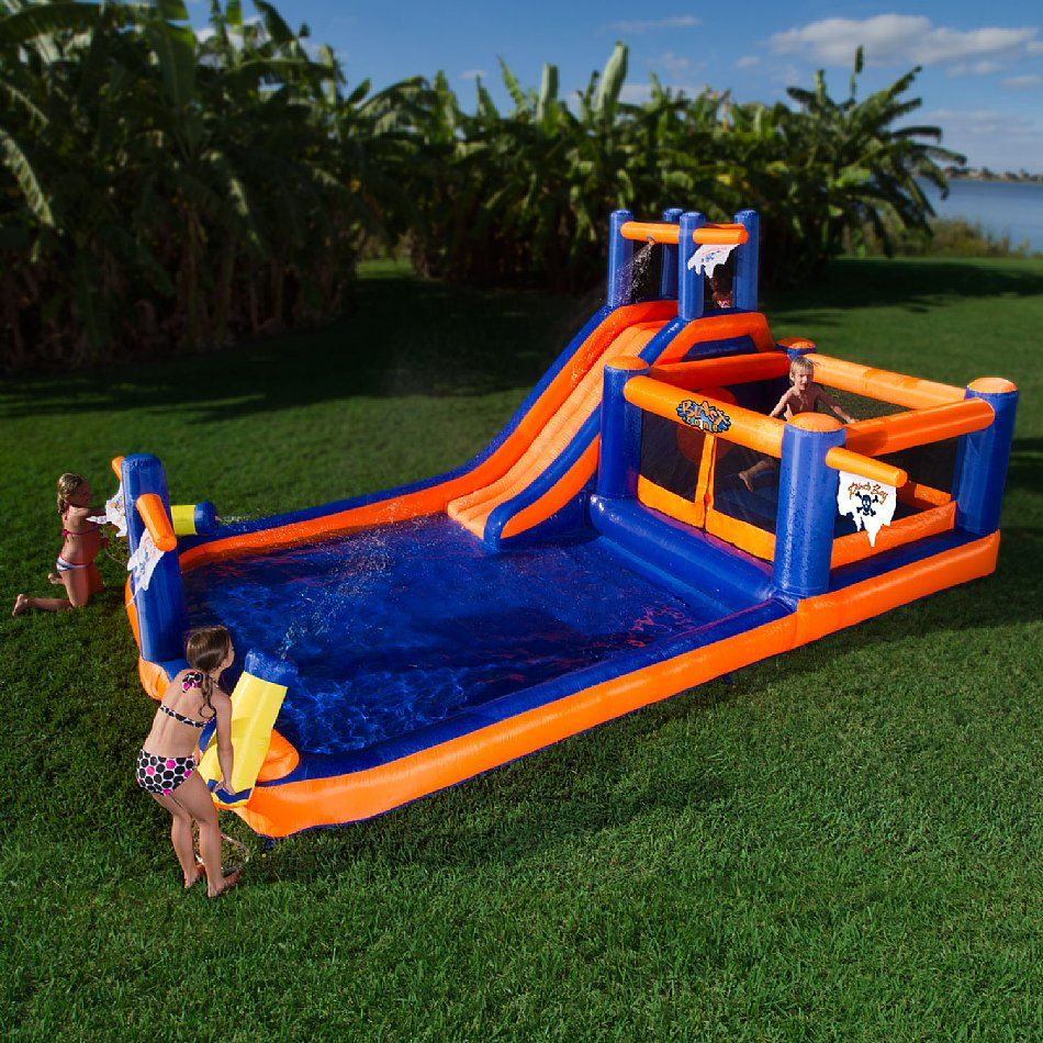 Blast Zone The Pirates Bay Inflatable Water Slide