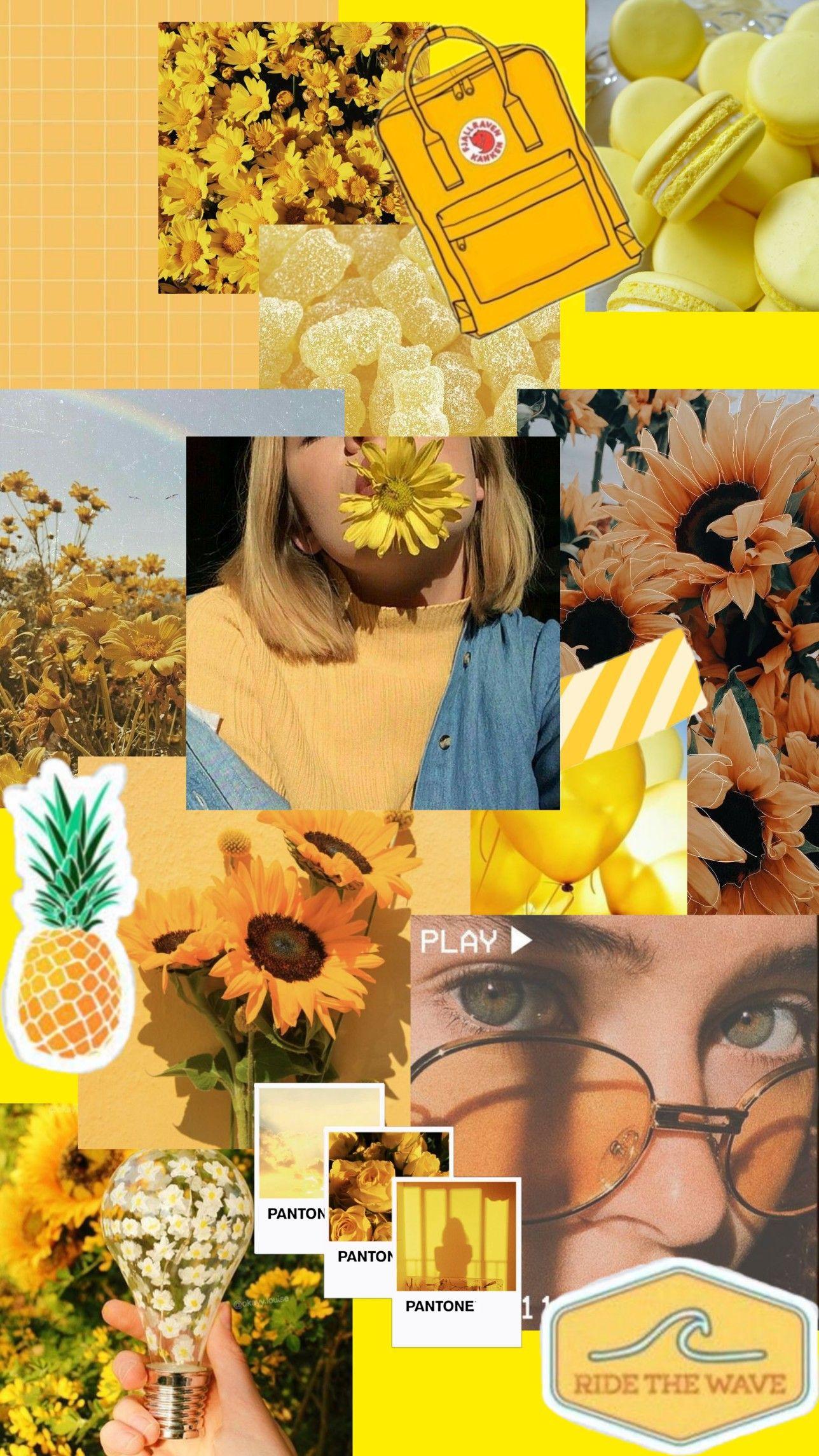 Yellow Aesthetic Wallpaper Iphone Wallpaper Yellow Pretty Wallpaper Iphone Yellow Aesthetic Pastel Aesthetic wallpaper collage yellow