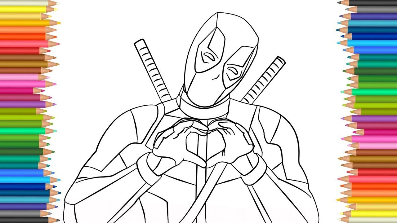Deadpool 2 l Coloring Page l Coloring Markers Videos For Children ...
