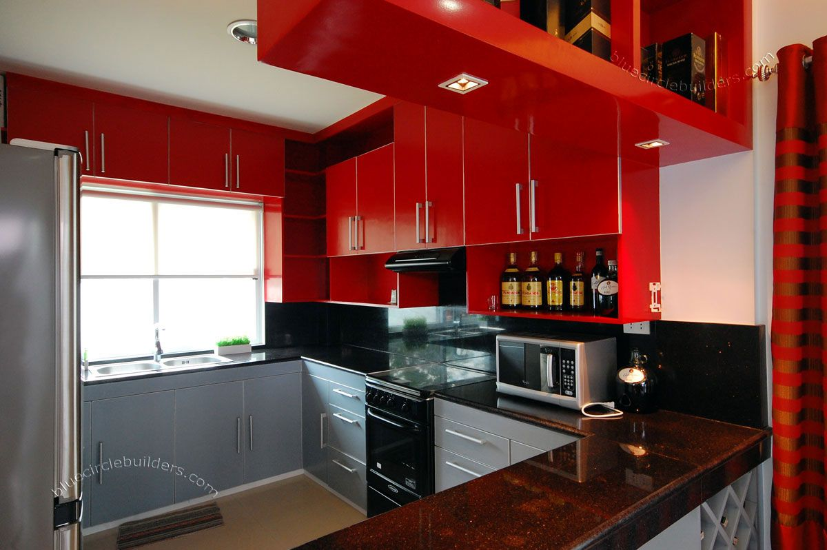 Modern kitchen design philippines small kitchen design for Red kitchen designs photo gallery