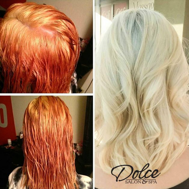 Color Correction Red To Bleach Blonde Love Blonde Red Blonde