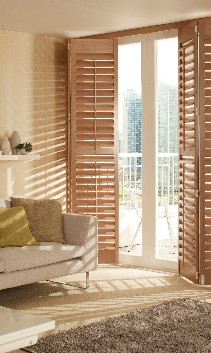 Create a statement with shutters by adding them to your patio doors. Keep the interior & Create a statement with shutters by adding them to your patio doors ...