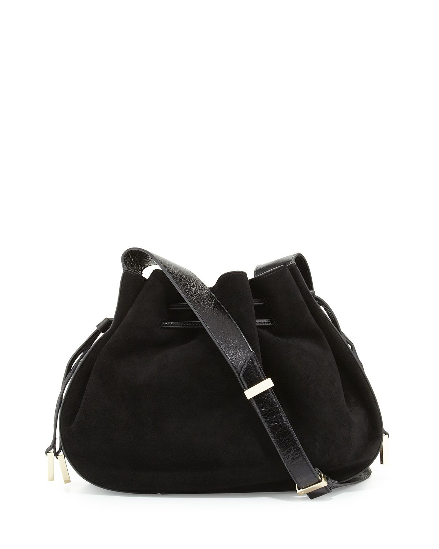c45d199c9d5c Halston Heritage Glazed Leather   Suede Bucket Bag