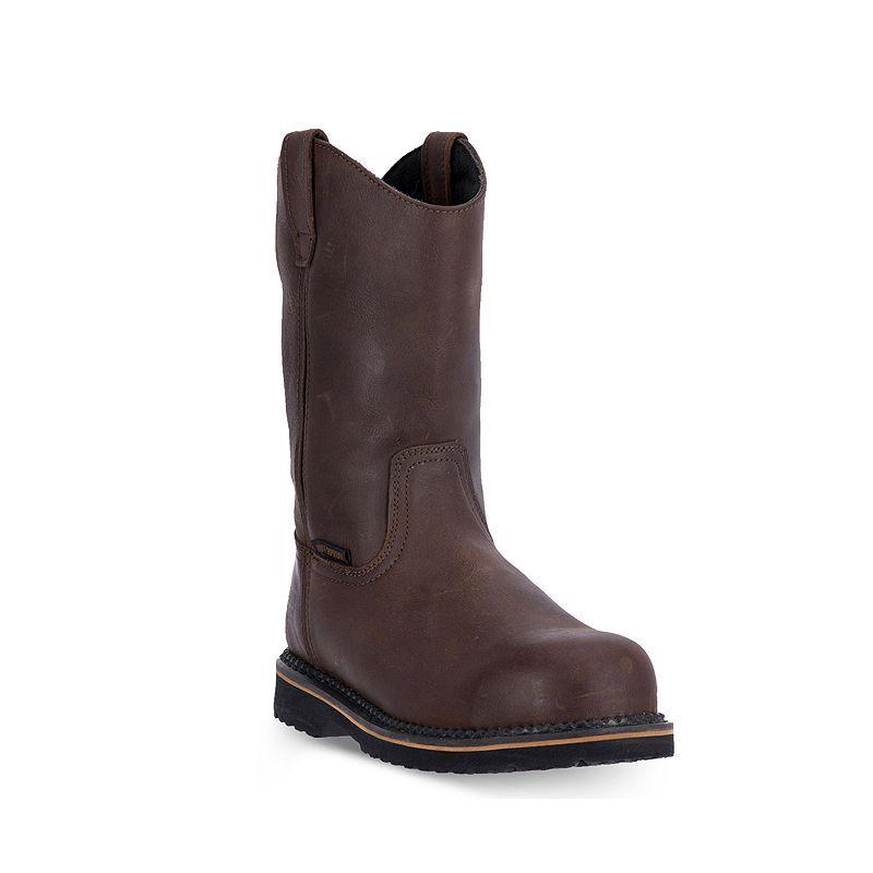 McRae Industrial Men's Steel-Toe Work Boots, Size: 15 Med, Brown ...
