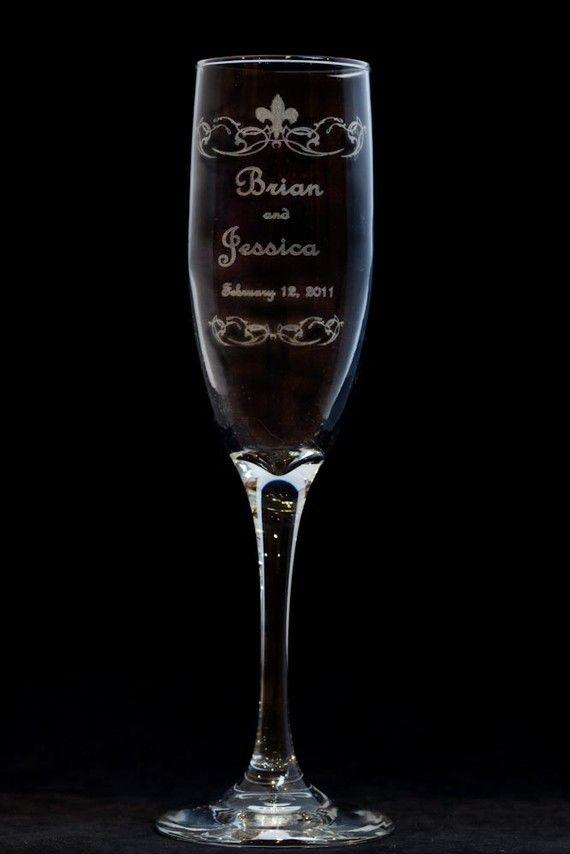 Engraved Wedding Toasting Champagne Flutes PAIR by artZengraving, $24.00