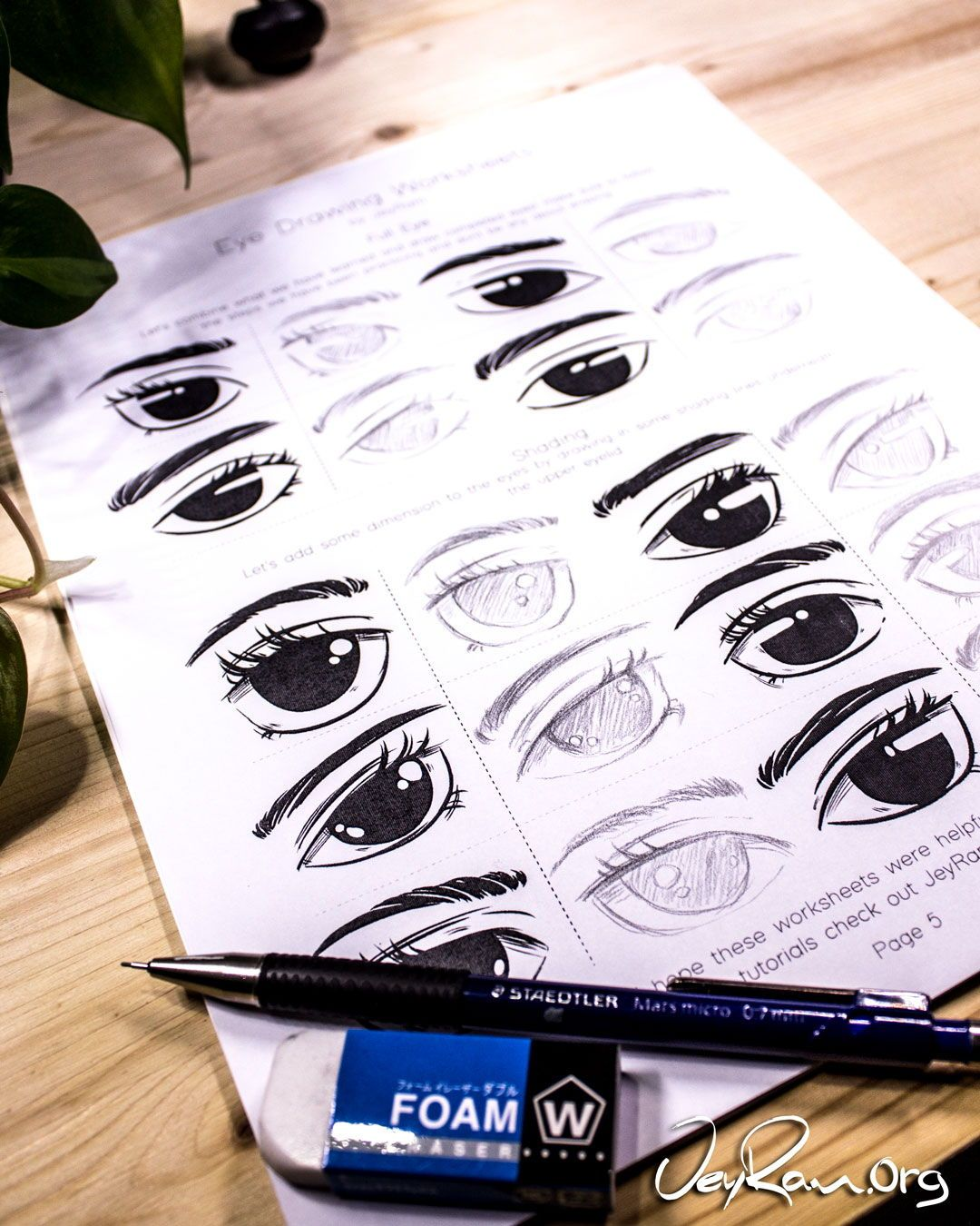 Learn How To Draw Eyes Using The Free Printable Worksheet