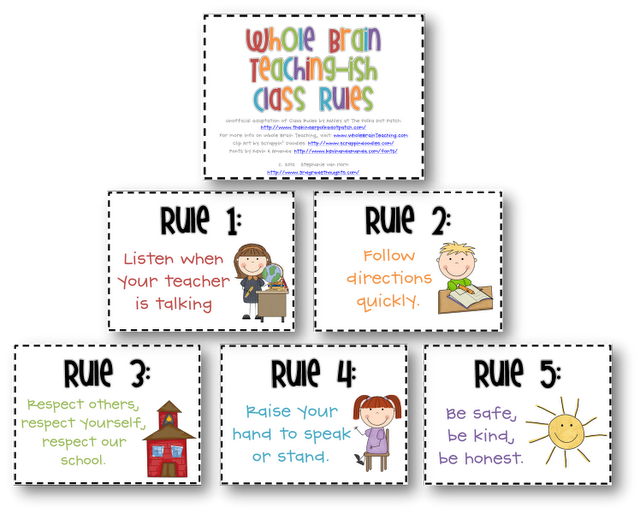 Classroom rules- whole brain teaching