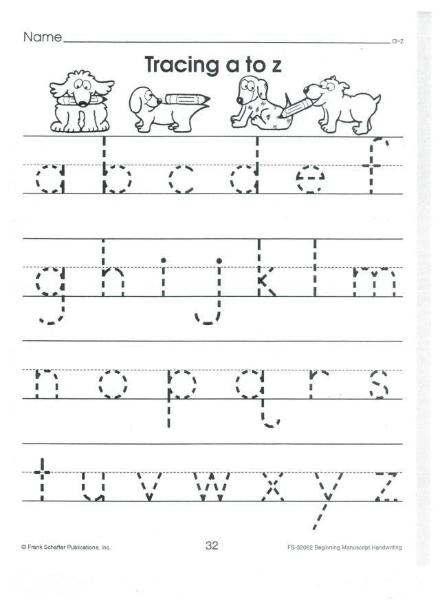 English print abc a to z lower case 001 | School | Pinterest