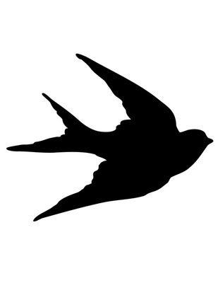 Silhouette De Andorinha Stencil De Pajaro Siluetas Animales